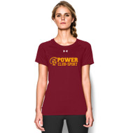 MPS Under Armour Ladies Short Sleeve Locker Tee - Maroon