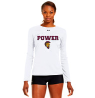 MPS Under Armour Ladies Long Sleeve Locker Tee - White