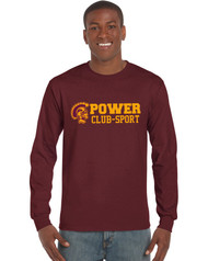 MPS Men's Gildan Ultra Cotton Long Sleeve - Maroon