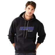 STA Gildan Premium Ring Spun Fleece Hooded Sweatshirt - Black