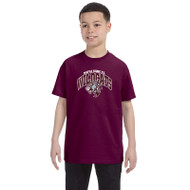 Maple Ridge Wildcats Youth Gildan Heavy Cotton T-shirt - Maroon (MRW-003-MA)