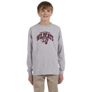Maple Ridge Wildcats Youth Ultra Cotton Gildan Long Sleeve T-Shirt - Grey (MRW-006-GY)
