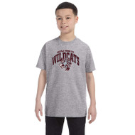 Maple Ridge Wildcats Youth Gildan Heavy Cotton T-shirt - Sport Grey (MRW-003-GY)
