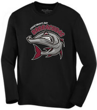 FRB Long Sleeve Moisture Wicking T-Shirt with Full Front Print - Black