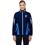 FBS Women's Impact Active Lite Colour Block Jackets - Nautical Blue/White (FBS-032-NW)