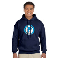 DMM Adult Gildan Heavy Blend 50/50 polycotton Hoodie - Navy - Embroidered