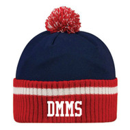 DMM Collegiate pom pom Beanie - Navy/Red