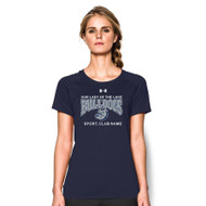 OLL Under Armour Women's Short Sleeve Locker Tee - Navy (OLL-023-NY)