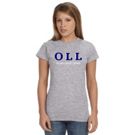 OLL Gildan Ladies Softstyle Junior Fit T-Shirt - Grey
