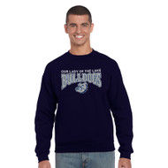 OLL Gildan Cotton Crew Neck Sweater - Navy