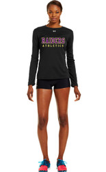 EDH Under Armour Ladies Long Sleeve Locker Tee - Black