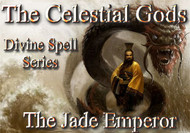 The Celestial Gods  Divine Spell Series The Jade Emperor  The Celestial Gods are the most powerful immortals in the universe. They rule over every aspect of creation and are said to live in a domain beyond time and space.  Every major culture on earth has recognized the existence of these divine beings.  They are ubiquitous in their placement in history, art, literature, religion, and mythology.  The Celestial Gods are more a part of our lives than ever, but religion, the media, and other authoritarian structures would have you believe otherwise.  The Gods want to help humans evolve.  For thousands of years, they gave us spells, rituals, incantations, invocations, items of power and many other tools to help us evolve beyond our suffering and imprisonment.    Time has eroded our access to these items and many of them have been sequestered by the powers that be. For the most part, only nobility, military powers, religious leaders, mystics, and shamans have had any access to the divine spells left us by our Gods.  Now, for the first time, we will restore a portion of these spells to humanity.  The Divine Spell Series will serve as a bridge to the power of the Celestial Pantheon of Gods.  These spells will allow you to summon and control a modicum of their power for everything that you need in life.  You will find that some of you have a special knack or connection to specific gods and their spells.  Others will find that they can use all of them.  We will release a number of books in this series that will access the power of a number of gods.  The first book in this series will focus on spells that will allow the user to work with the power of The Jade Emperor.  The Jade Emperor is one of the most powerful beings in the universe. He is the director and chairman of the Celestial Treasury and it is said that all forms of wealth pass through his hands.  He is very benevolent and kind. His power is available for us to use but we must avail ourselves of the correct spells. 