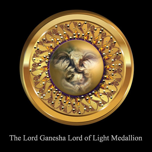 The Lord Ganesha: Lord of Light Medallion           Lord Ganesha is one of the most powerful of all the Celestial Deities. His body is said to contain the power of the whole universe and he can remove any obstacle.     The Lord Ganesha Lord of Light Medallion provides the user with a small amount of the power of the God himself. Just as the Lord Amitabha Buddha Vessel allows the user to possess a small amount of the power of the God, the Lord Ganesha Medallion does the same. Unlike the Lord Ganesha vessel that we use to offer this can be worn with you daily. There are some upgraded features and symbols on this medallion that will allow for the purest and strongest of energy's to flow through you.    There is a term that applies to prayer to a very personal aspect of a god. This term is Ishtadevata. It refers to a very intimate part of the deity. When one owns a medallion or vessel with the properties of the Ishtadevata, he/she can rely on a very intimate connection with the power of the God.     The Lord Ganesha Lord of Light Medallion allows the user to anchor a portion of the power of Lord Ganesha on this world. In addition to clearing karma and increased prosperity, the user can act as a vessel for the God. This effectively makes one an Avatar for the Power of Lord Ganesha during life and beyond. Because one makes the investment of faith and power in the God, the blessing extends beyond death itself.     Owning this Medallion makes one an Avatar of the Lord Ganesha. The power of the medallion will extend into your life and the life of others who are near you. The longer you own it, the more the power of the God manifests within your life. Ultimately, your life will mirror that of the God and dissolve old nagging blocks and makes room for prosperity in your life.    Price: $400.00    ****If one owns the original Lord Ganesha Vessel, meditate with that in your right hand and the Lord Ganesha medallion in your left had for 21 minutes. After your meditation is comple