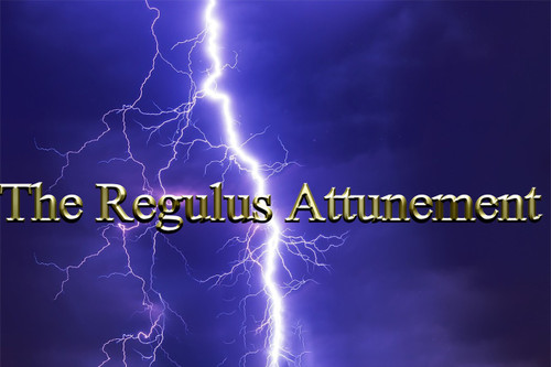 """The Regulus Star Attunement        As the brightest star in Leo, Regulus has been almost universally associated in ancient cultures with the concept of royal or kingly power. The name Regulus actually comes from the Latin rex, or king. The star was known in Arabia as Malikiyy, the Kingly One; in Greece as the """"Star of the King""""; in ancient Babylon, as Sharru or the King; to the even more ancient Akkadians of Mesopotamia it represented Amil-gal-ur, the legendary King of the Celestial Sphere who ruled before the great flood. The Hindu title Magha signifies the Mighty or the Great One. The Persian name Miyan means the Central One or the Star of the Center. The Latin Cor Leonis is the equivalent of the later Arabian Al Kalb al Asad, the Heart of the Royal Lion.     Regulus is known as one of the four Royal Stars of the heavens, the other three being Aldebaran, Fomalhaut, and Antares. Regulus, in the constellation Leo, is the northern Royal Star. These four Royal Stars are considered to be sentinels watching over other stars and form a Fixed Cross in the heavens. Regulus lies at the base of the sickle of Leo, resembling a reversed question mark some 16 degrees high. To modern sky watchers this sickle outlines the majestic head and mane of the great westward-facing lion, crouched in the regal pose of the enigmatic Egyptian Sphinx. Esoterically Regulus acts as a lens for Sirius. Sirius is the star of Christ consciousness and we associate the Christ with the Heart center. As Sirius is known as the Dog Star (God Star), then the star Regulus (the Heart of the Lion, the Lawgiver), its """"lens,"""" serves as the regulator of Sirian energy to the earth, stimulating the response in humanity to express heart consciousness, the quality we call love. The Soul is synonymous with love; Christ, the Heart consciousness. Love, indeed, is an action. Energy is simply energy, and we choose to react to its stimulation in various ways.     The Regulus Attunement helps the user connect with the dee"""