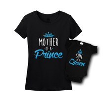 Mommy & Me Black Set - Queen/Prince