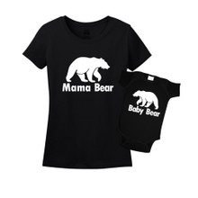 Mommy & Me Black Set - Mama/Baby Bear