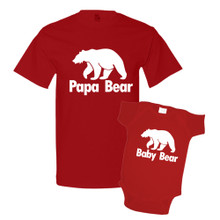 Daddy & Me Red Set - Papa/Baby Bear