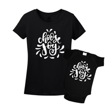 Mommy & Me Black Set - Choose Joy