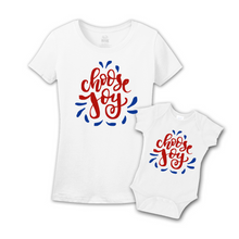 Mommy & Me White/Red-Blue Set - Choose Joy