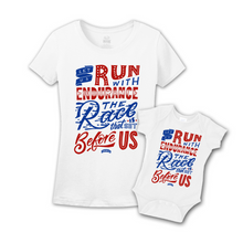 Mommy & Me White/Red-Blue Set - Endurance