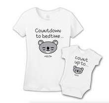 Mommy & Me White Set - Bedtime Countdown