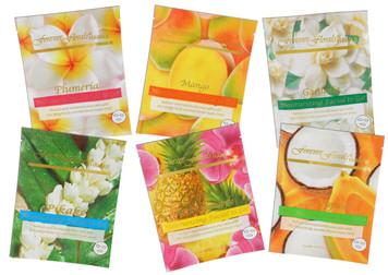 Forever Florals 6-Pack Scented Facial Mask - Pikake, Plumeria, Gardenia, Pineapple, Coco Papaya, Mango