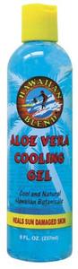 Hawaiian Blend Blue Aloe Vera Cooling Gel 8oz -  Heals Sun Damaged Skin