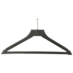 A4Forty Ball-Top Anti-Theft Polymer Coat Hanger with Trouser Bar - 151-401
