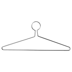 A4Forty Chrome Steel Extra Heavy Duty Coat Hanger with Anti-Theft Closed Loop - 151-701