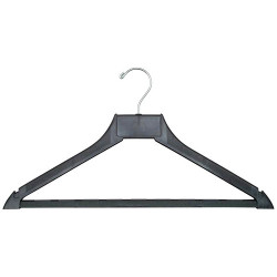 A4Forty Open Hook Polymer Coat Hanger with Trouser Bar - 151-400