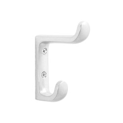 A4Forty Coat Hook 196-200 - Aluminum - Double Prong - Heavy Duty