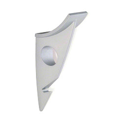 A4Forty Double Prong Coat Hook in Satin Aluminum - 242-481