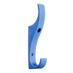 A4Forty Unbreakable Light Blue Nylon Coat Hook - Double Prong - 151-623
