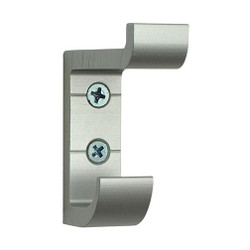 A4Forty Extra Heavy Duty Double Prong Aluminum Coat Hook in Silver - 154-105