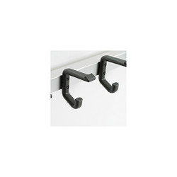 Magnuson Nylon Coat Hook K15 on Rail - Double Prong (Note: Image shows 2 individual units.)