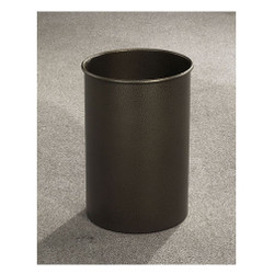Glaro Mount Everest Trash Can, 10 x 15, 5 Gallon - 66 - finished in Bronze Vein