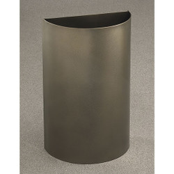 Glaro Profile Half Round Open Top Receptacle - 1896, finished in Bronze Vein