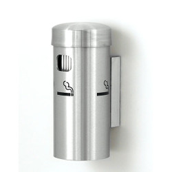 Glaro Wall Mounted Smoking Post 4400 in Satin Aluminum finish
