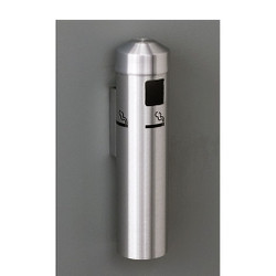 Glaro Wall Mounted Smoking Post 2401 in Satin Aluminum finish