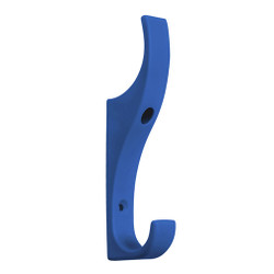 A4Forty Unbreakable Dark Blue Nylon Coat Hook - Double Prong - 151-620