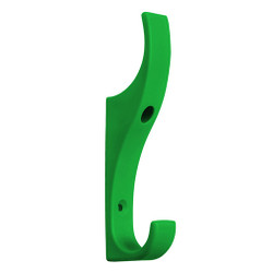 A4Forty Unbreakable Dark Green Nylon Coat Hook - Double Prong - 151-626