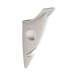 A4Forty Double Prong Coat Hook in Satin Nickel - 242-484