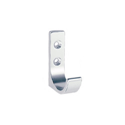 Peter Pepper 2011-AL Coat Hook - Aluminum - Single Prong