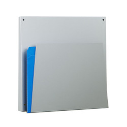 Peter Pepper HIPAA Medical Chart Holder 4141H in Aluminum Metallic - Front Angle