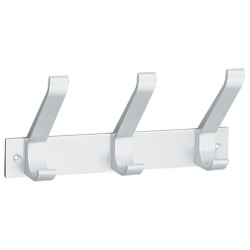 Peter Pepper 2141AL Coat Rack - 3 Coat Hooks - Wall Mounted