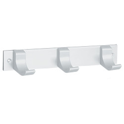 Peter Pepper 2142AL Coat Rack - 3 Coat Hooks - Wall Mounted