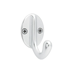 Peter Pepper 2072-AL Coat Hook - Aluminum - Single Prong
