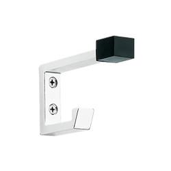 Peter Pepper 2083-AL Coat Hook - Aluminum - Double Prong - Door Stop Tip