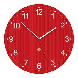 Peter Pepper Red Wall Clock GROOVY