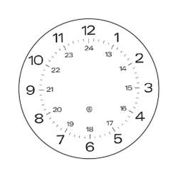 Peter Pepper Clock Face 24